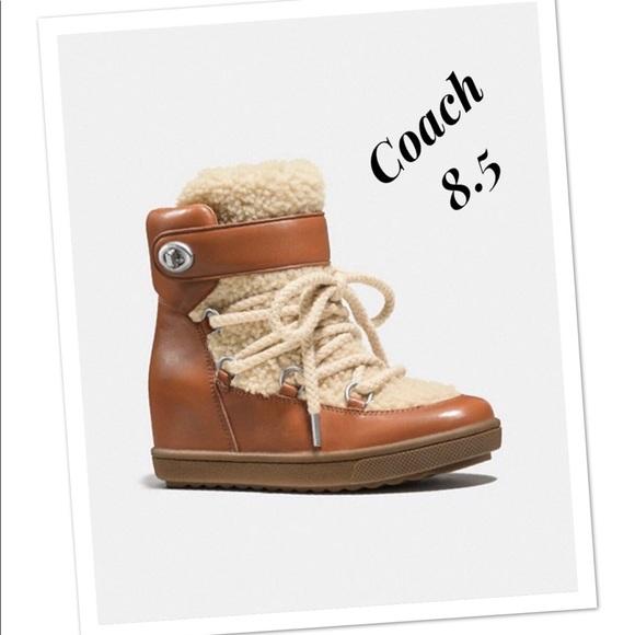 Coach Shoes - 💕Coach Monroe Shearling Booties 💕